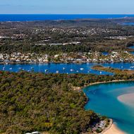 Noosa Heads and southwards.