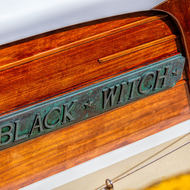 Yacht name plate.